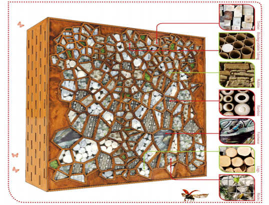 The Luxe Bug Hotel by Arup Associated offers a stylish modern home to bugs