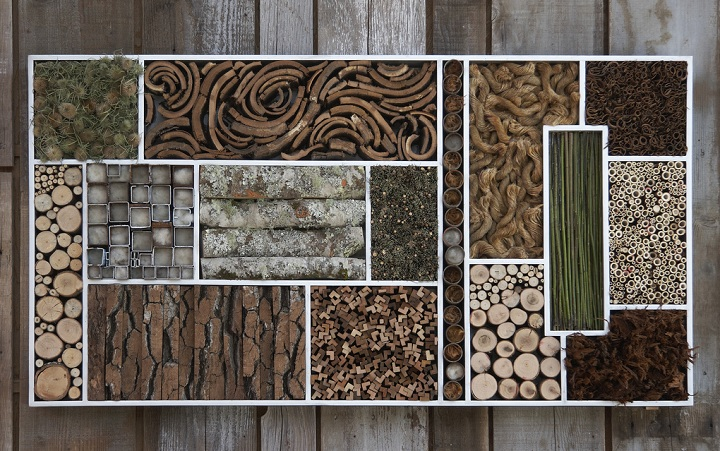 This insect hotel is stunning it its design and materials selection.
