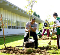 Hosford School Rain Garden and School Greening