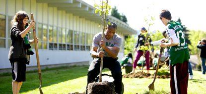 Hosford School Rain Garden and School Greening