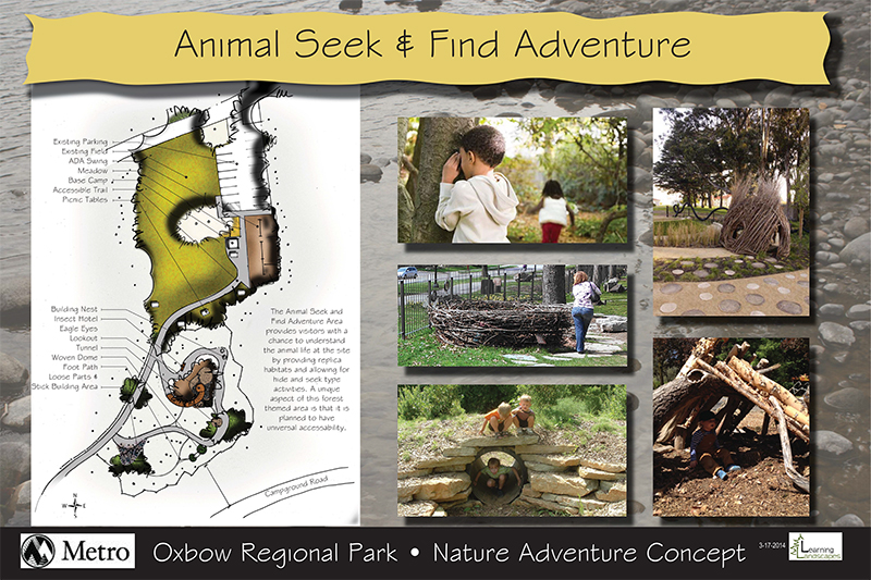 Oxbow park nature play area concepts by Learning Landscape Design