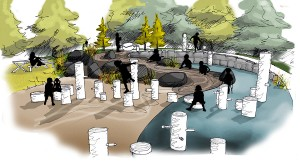 Learning Landscapes_OXBOW PARK_buried forest nature play area concept