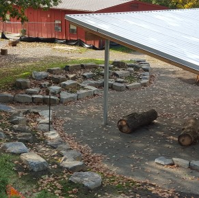 Sabin School's playscape is just about complete!