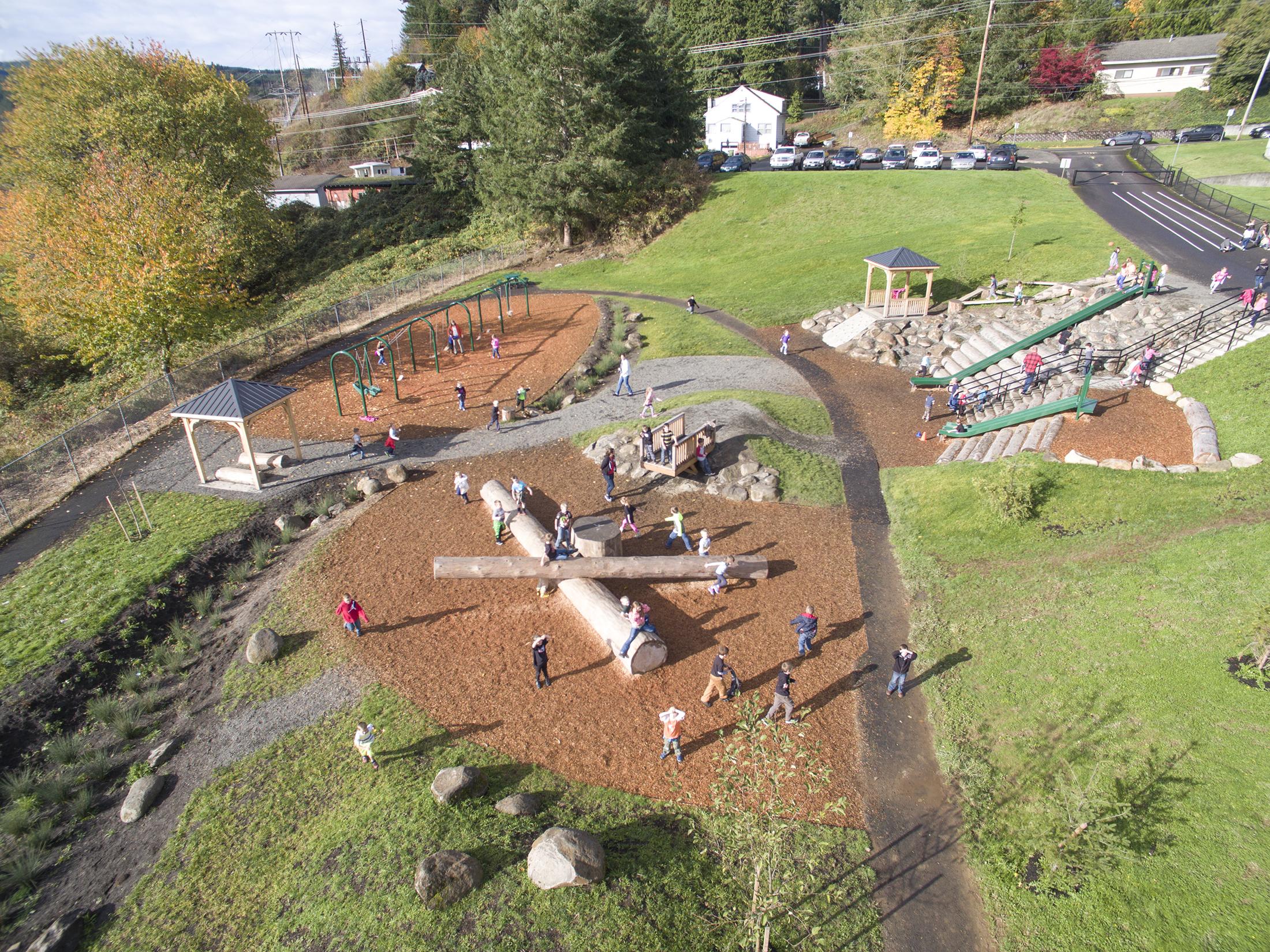 Clatskanie elementary school learning landscapes for Learn landscape design