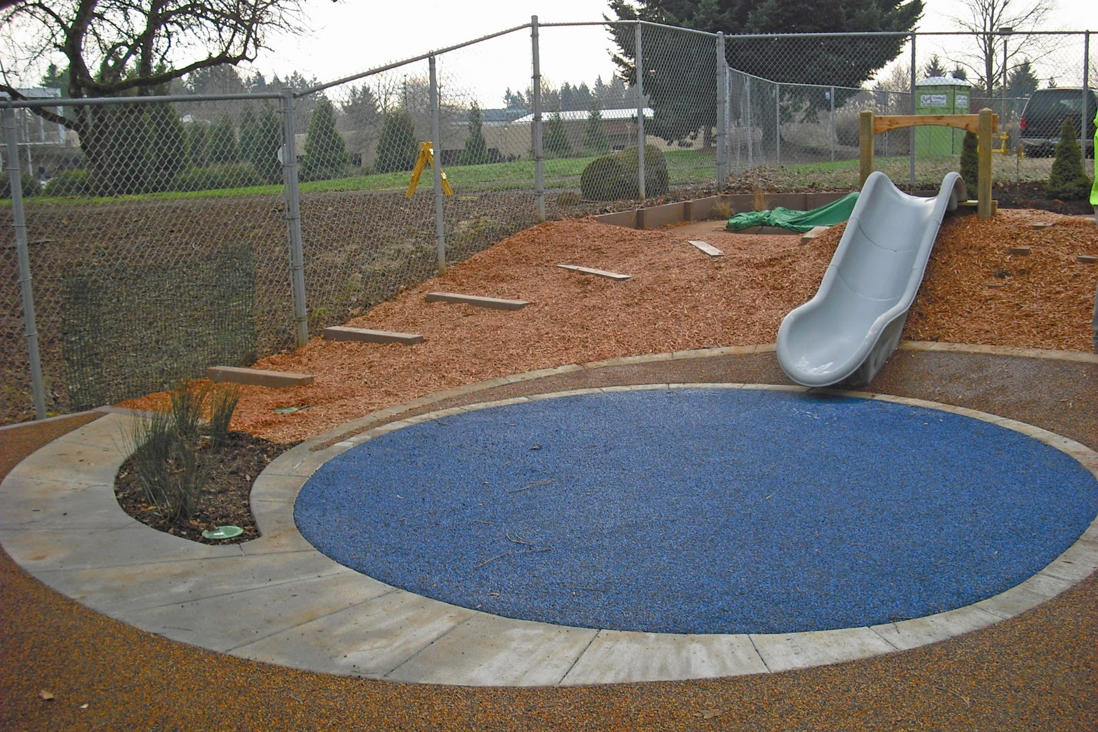 Kids can 39 t wait to go down the slide into the pond for Design of pond embankment